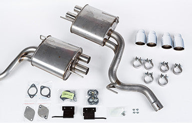 2015-2017 Mustang 5.0L ROUSH V8 Quad Tip (Active Ready) Exhaust Kit - Convertible Only
