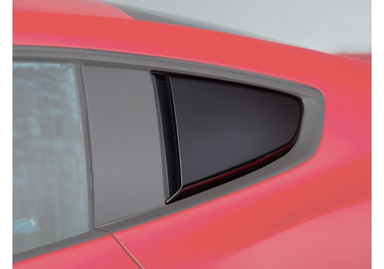 2015-2020 Mustang ROUSH Quarter Window Scoops (Painted Black)