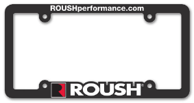 MOLDED PLASTIC LICENSE PLATE FRAME