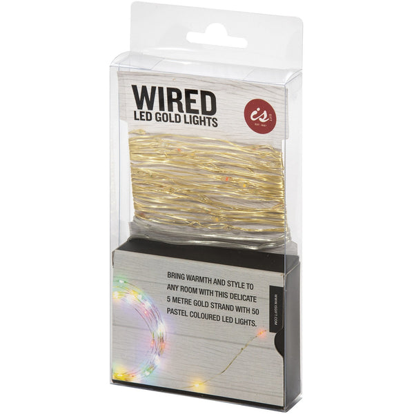 Wired Gold Lights - 5m