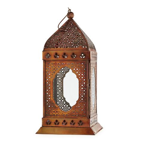 Jali Bronzed Window Lantern