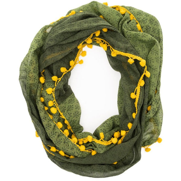 Ombre Grove Infinity Scarf - Fern