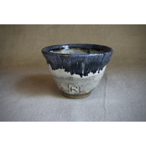 Blue gold stoneware glazed bowl.  CB-001