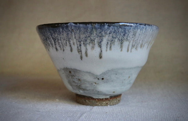 Blue gold stoneware glazed bowl.  CB-002
