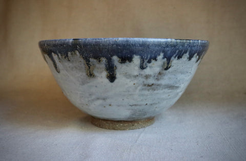 Wheel Thrown Blue gold stoneware bowl. CB005