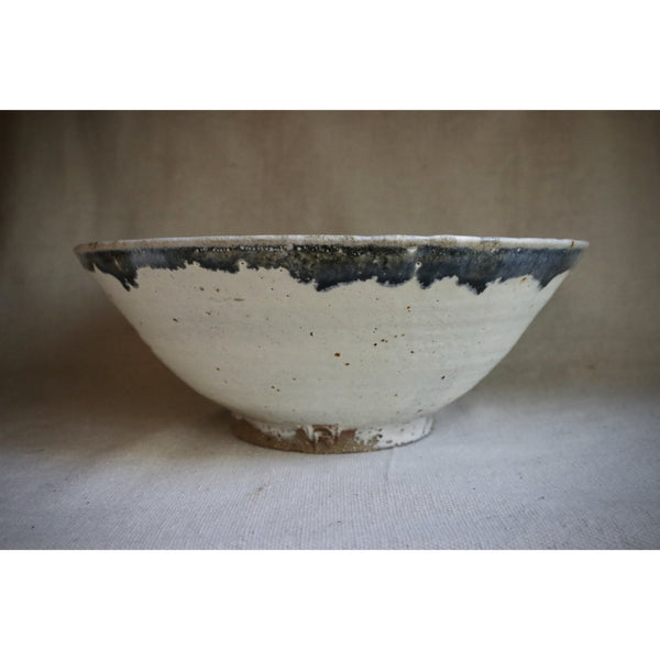 Wheel Thrown Blue gold stoneware bowl.  CB006