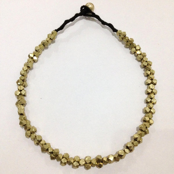 Short Thick Brass Necklace