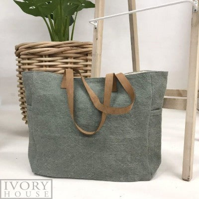 Washed Canvas Bag - Green