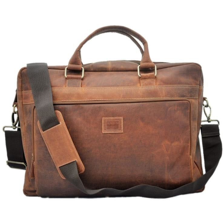 Rustic Leather Satchel