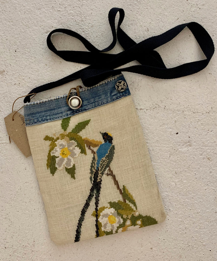 Bird Vintage textiles cross body bag
