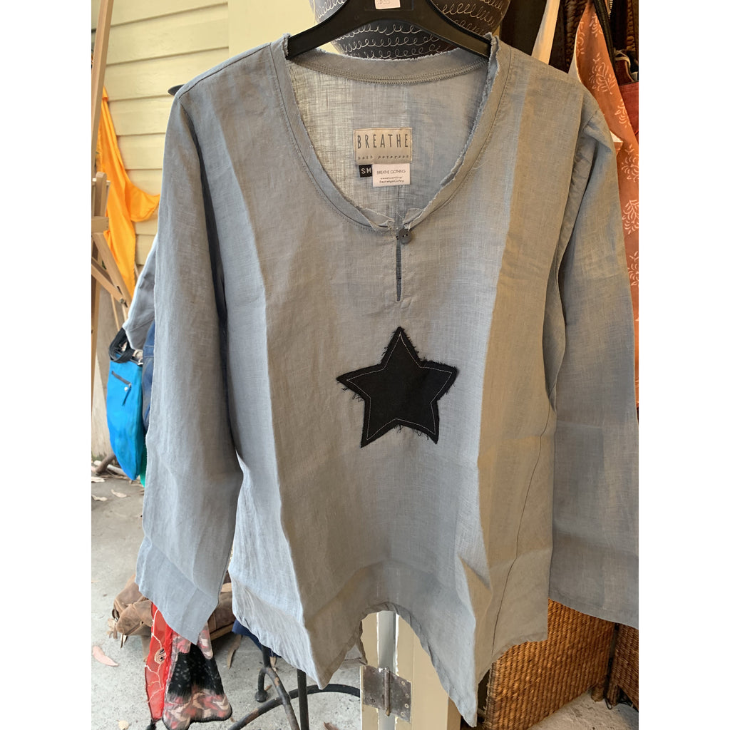 Linen Top - Alice Tunic with Star