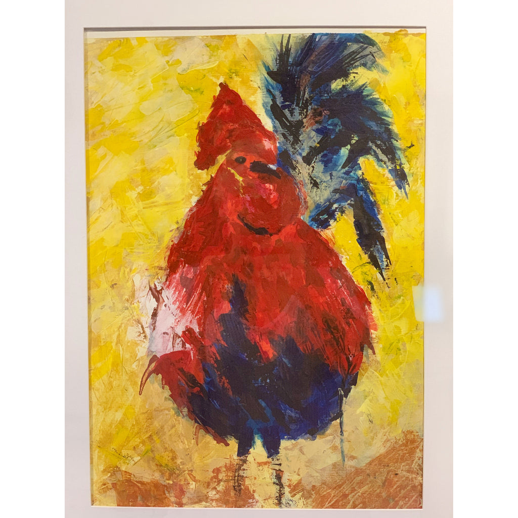 Rooster with in Red