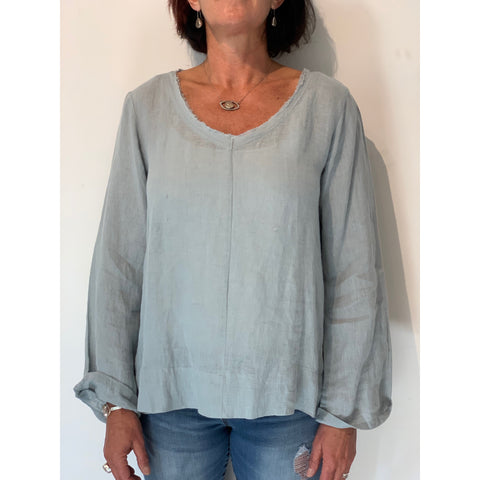 Linen Top - Ellie