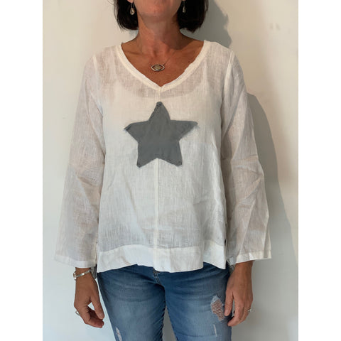 Linen Top - Ellie with Star