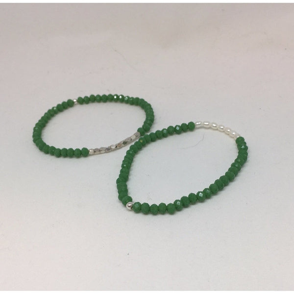 Green Crystal Bracelets