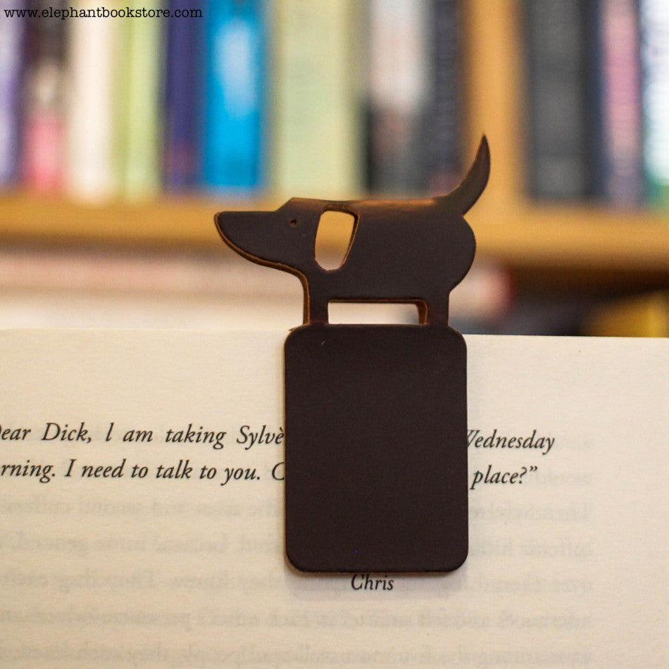 Leather Dog Magnetic bookmark
