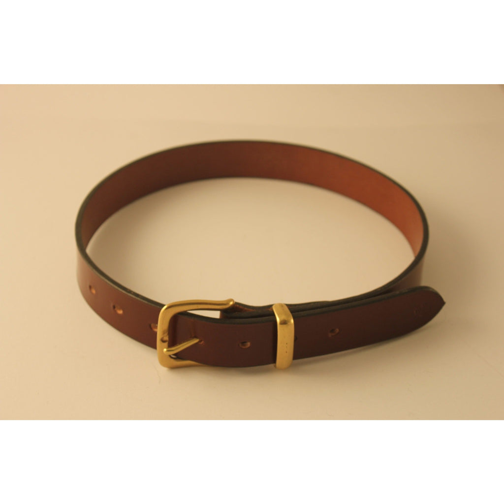 Leather Belt - Dark Tan