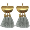 Brass Tassle Earrings