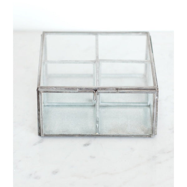 Zinc and glass box