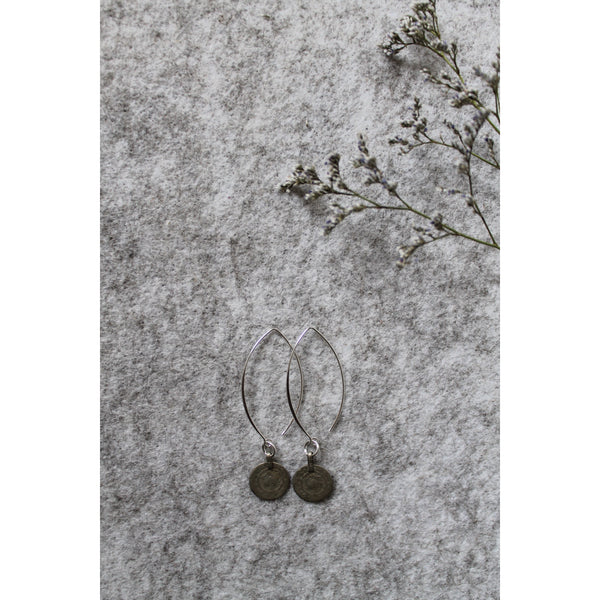Rare coin earrings
