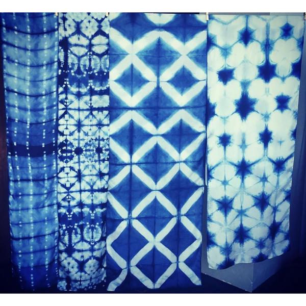 Shibori scarves large