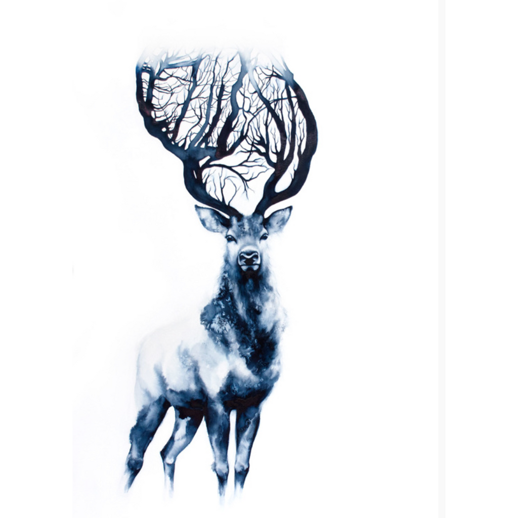 Stag Heart Greeting Card