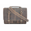 Rustic Leather Satchel Bag