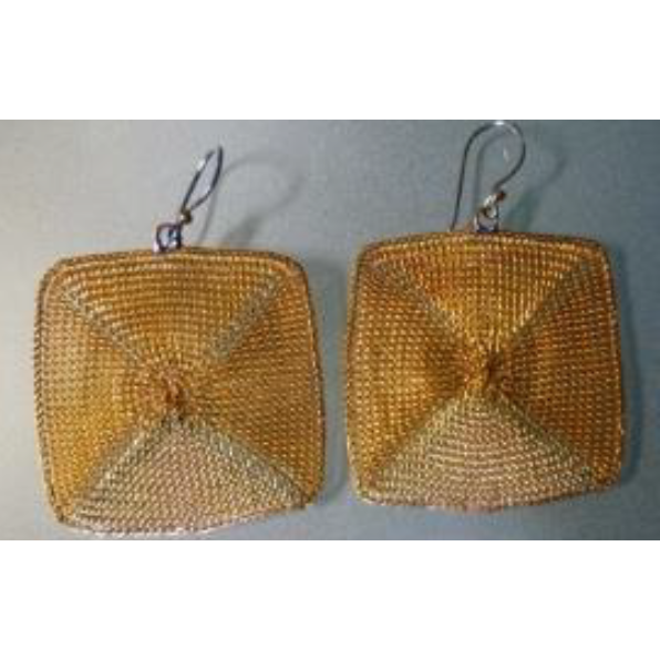 Milena Zu triangular/square earrings