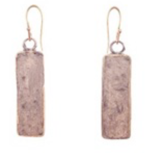Paper Pulp Earrings Rectangular