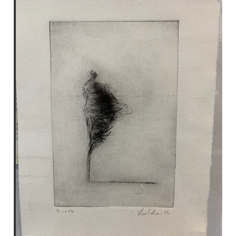 Dry Point Etching - Wind VI