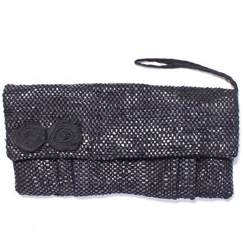 Upcycled Tape Clutch - Black