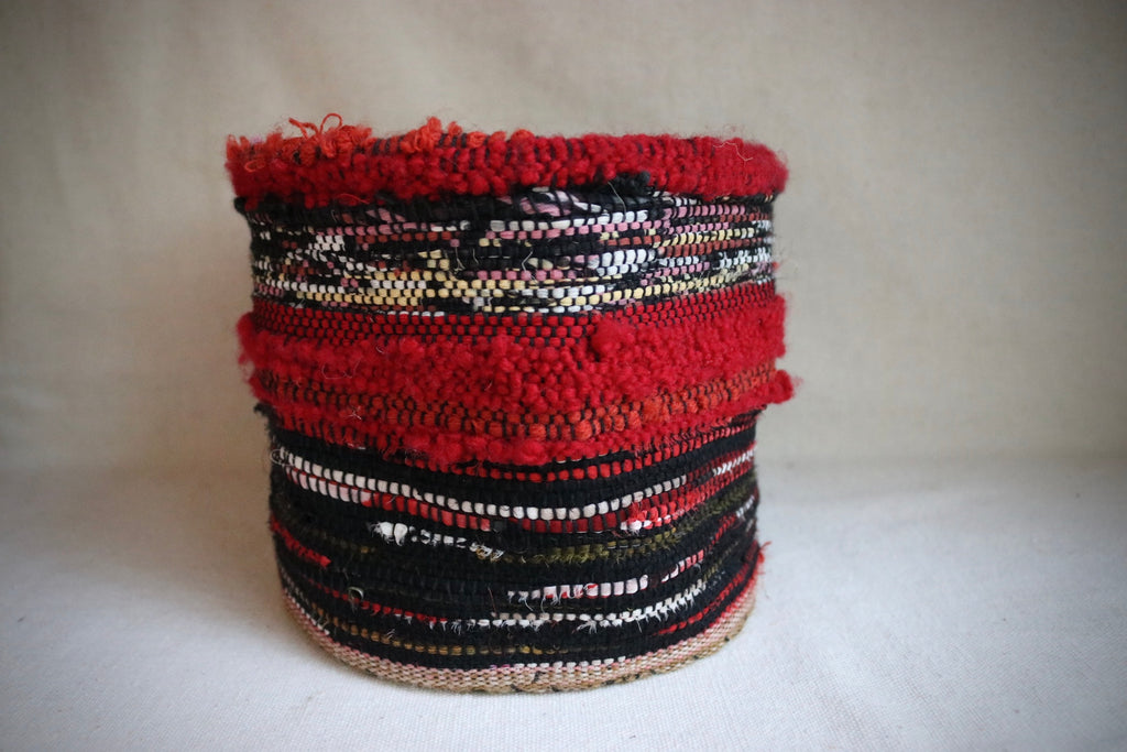 Woven Wool and Cotton Thread Basket