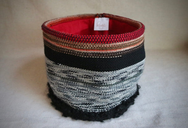 Woven Wool and Cotton Threads Basket