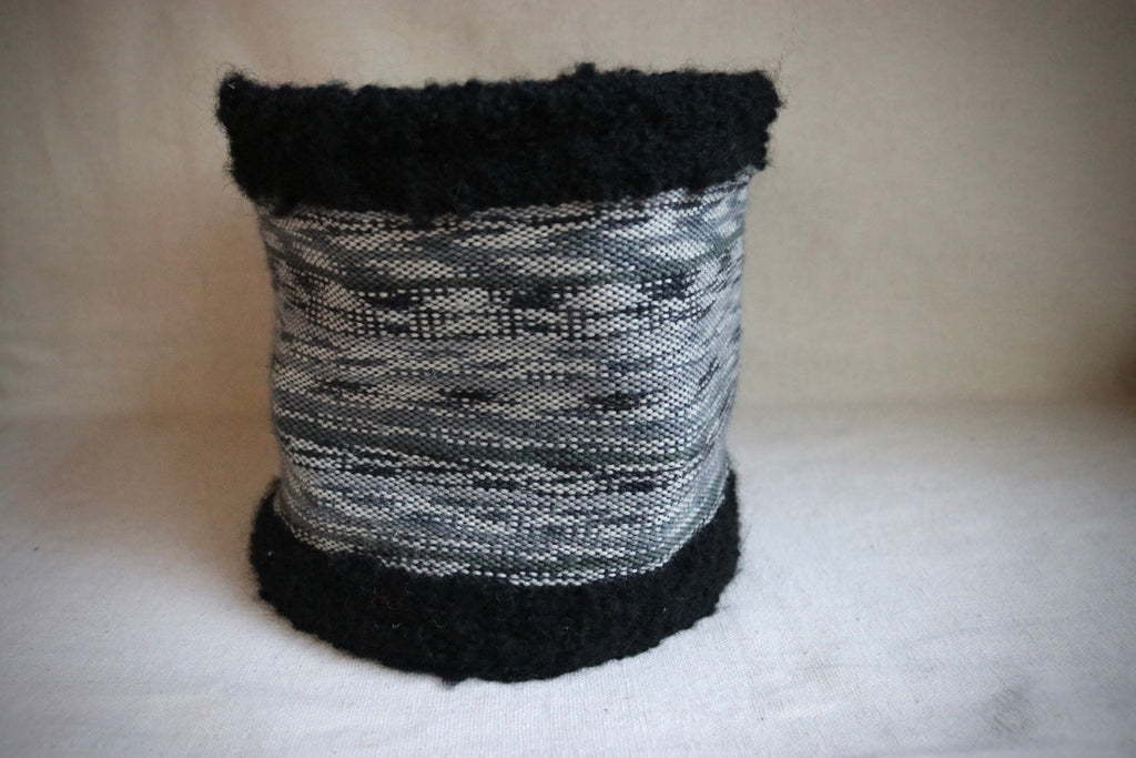 Woven Wool with Cotton Threads Basket