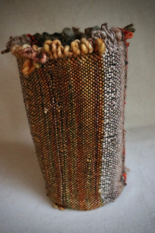 Woven Wool Treads with  Cotton lining Vase container