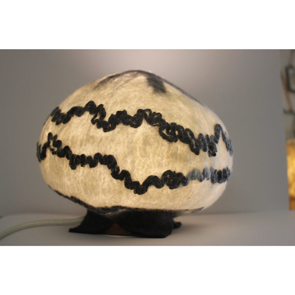 Black and White Lamp with Base