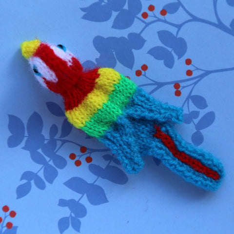 Macaw Finger Puppet