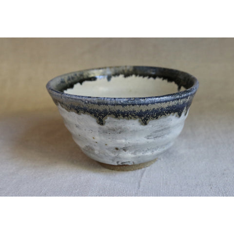 Wheel Thrown Blue gold stoneware bowl.  CB004