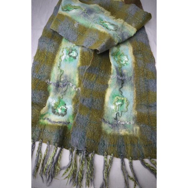 Bring on the green felted scarf
