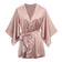 Juliet Satin Robe in Rose