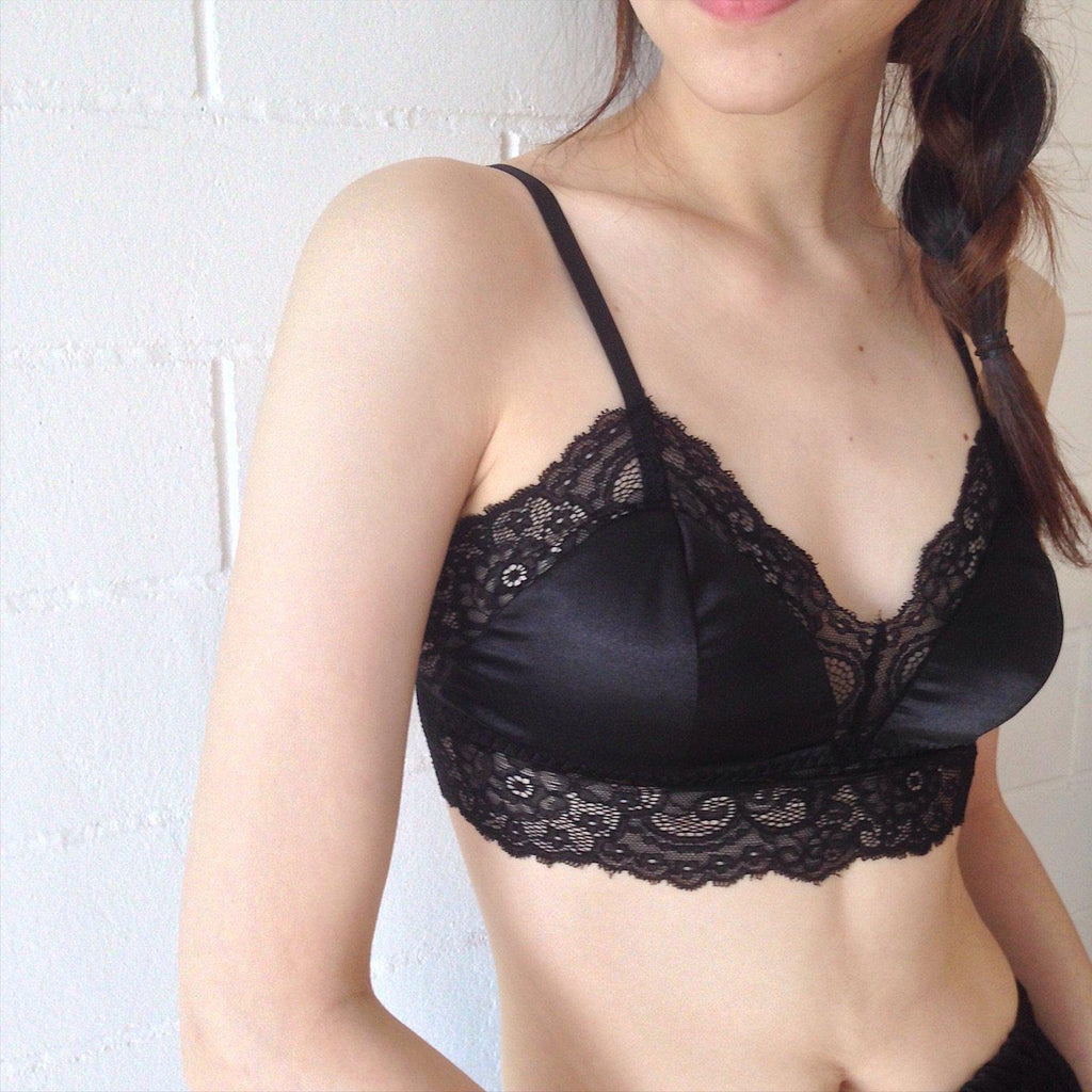 best silk lace padded bralette malaysia