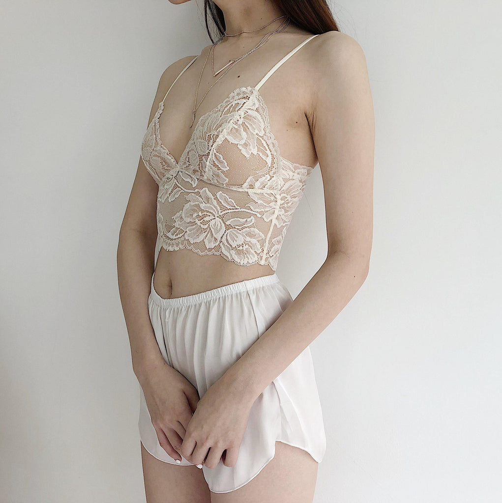 Giselle Padded Lace Cami in Ivory