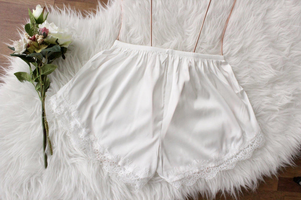 Cute satin sleep shorts Indonesia review Best satin pyjamas Singapore Top satin shorts Malaysia Satin pyjamas shorts Brunei Comfy and pretty shorts Top sleepwear shorts Lace satin shorts Luxurious pyjamas shorts Bridal Lace Satin Wear Sleep satin shorts  where to shop pretty satin wear