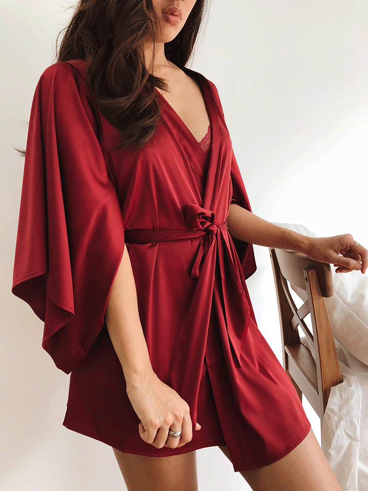 silk red bridal robe Malaysia satin robe Malaysia silk bridal robe Singapore satin robe Singapore