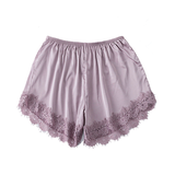 Dream Catcher Lace Satin Shorties (Pink)
