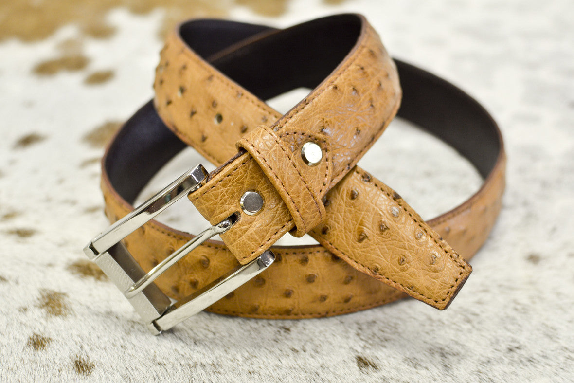 Quinton & Brother QBS ostrich leather belts