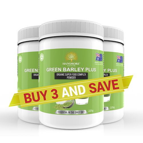 Green Barley Plus 3 Bottle Pack