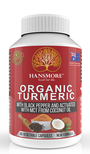 hansmore organic turmeric with coconut powder
