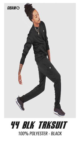 44 Polyester Black Patch Logo Tracksuit