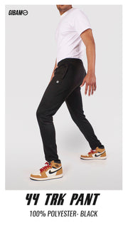 44 Polyester Black Patch Logo Trackpant